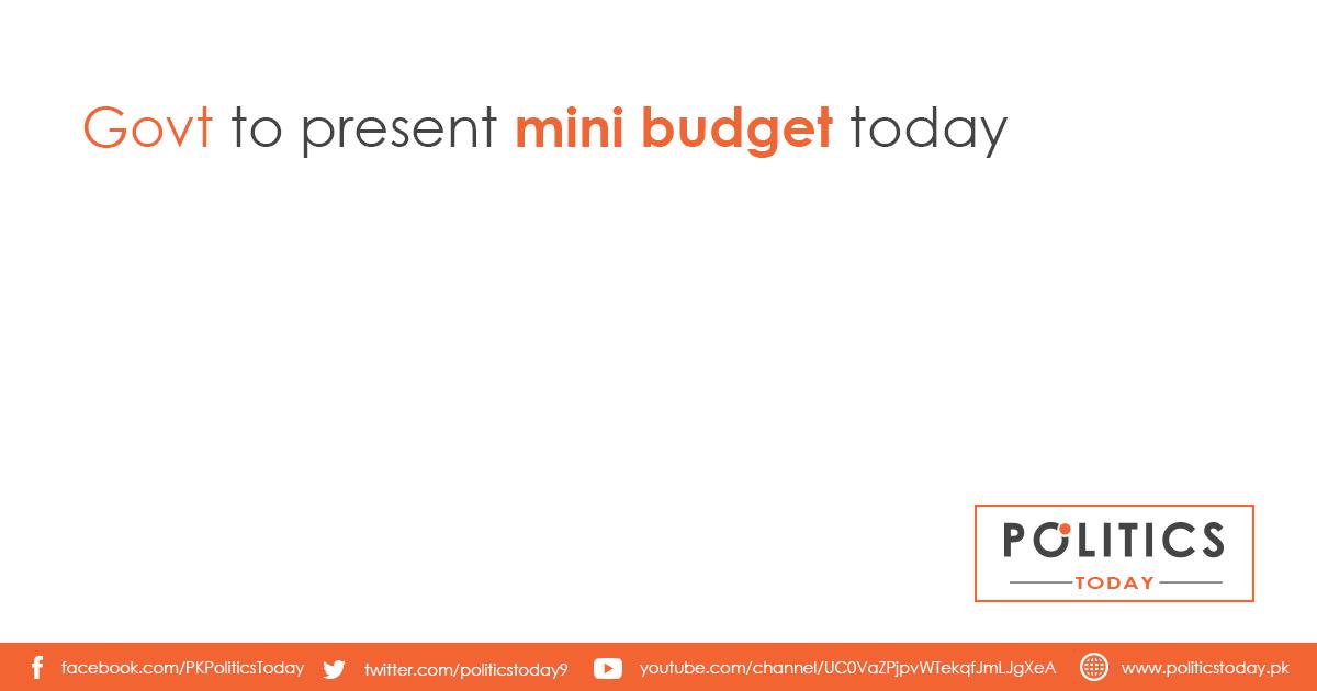 Govt to present mini budget today