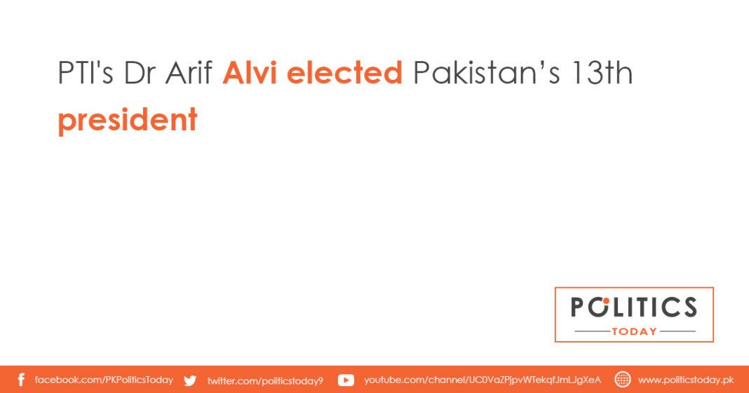 PTI's Dr Arif Alvi elected Pakistan's 13th president