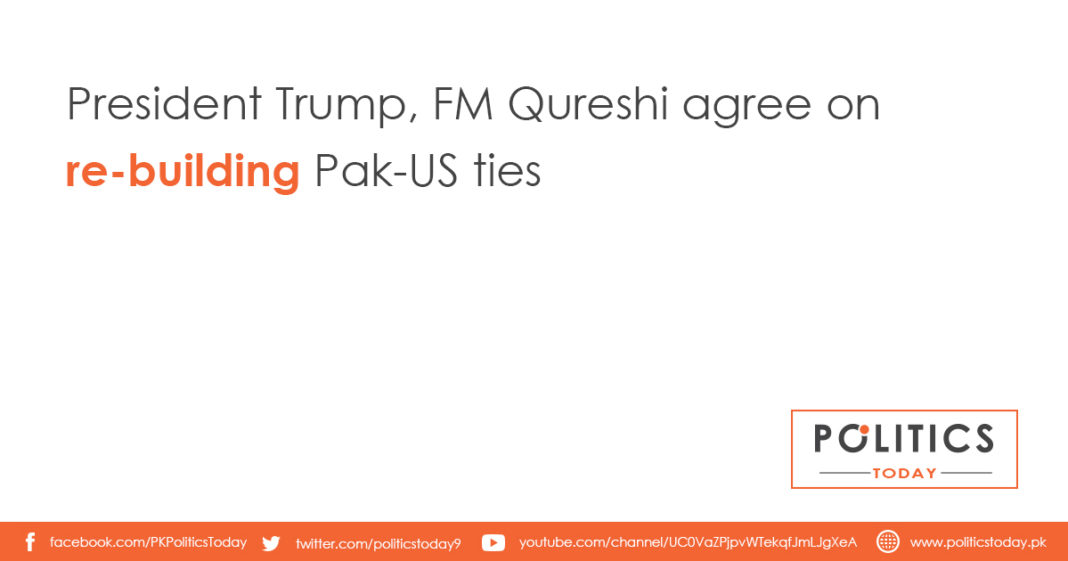 President Trump, FM Qureshi agree on re-building Pak-US ties