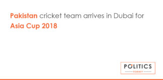 Pakistan cricket team arrives in Dubai for Asia Cup 2018