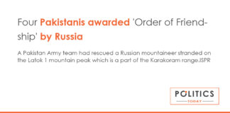 Four Pakistanis awarded by Russia