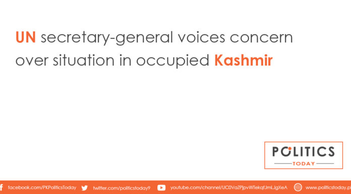 UN secretary-general voices concern over situation in occupied Kashmir