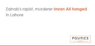 Zainab's rapist, murderer Imran Ali hanged in Lahor
