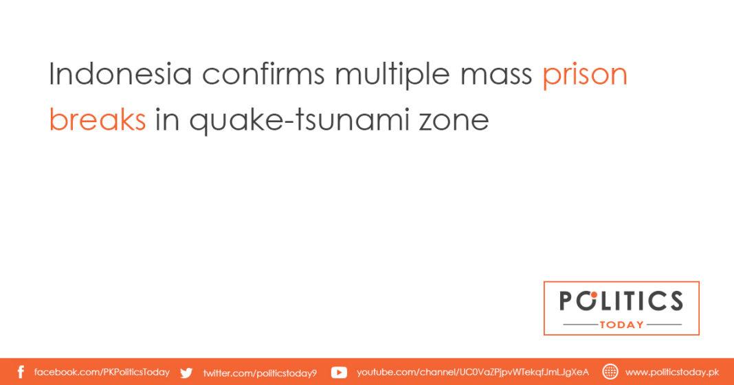 Indonesia confirms multiple mass prison breaks in quake-tsunami zone