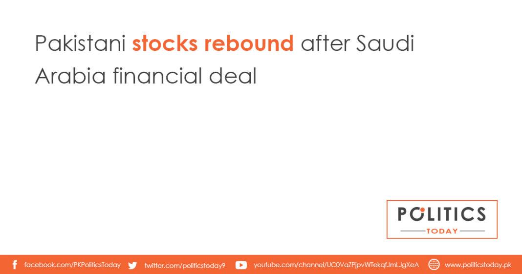 Pakistani stocks rebound after Saudi Arabia financial deal